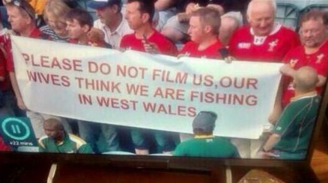 Please do not film us, our wives think we are fishing in west wales.